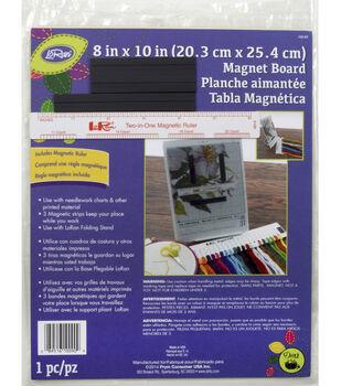 "LoRan 8"" x 10"" Soft Ivory Magnet Board&Ruler"