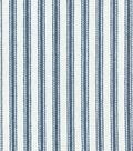 Waverly Upholstery Fabric 13x13\u0022 Swatch-Classic Ticking Navy