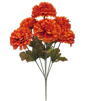 Blooming Autumn 12'' Ball Mum Bush-Orange