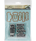Spellbinders Handmade Stephanie Low Stamp & Die Set-Fancy