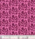Keepsake Calico Cotton Fabric -Vine Pink Purple