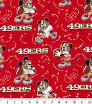 San Francisco 49ers Cotton Fabric-Mickey, , hi-res