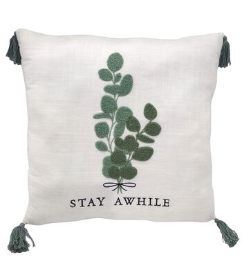 Simply Spring Pillow-Stay Awhile & Greenery
