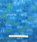 Doodles Juvenile Apparel Fabric -Bicycles Interlock