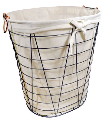 Large Laundry Storage Wire Hamper with Liner
