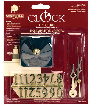 """Walnut Hollow Quartz Clock Kit-1/4"""" Surface"""