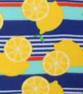 Blizzard Fleece Fabric -Lemon Stripe