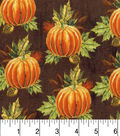 Harvest Cotton Fabric -Pumpkins and Leaves