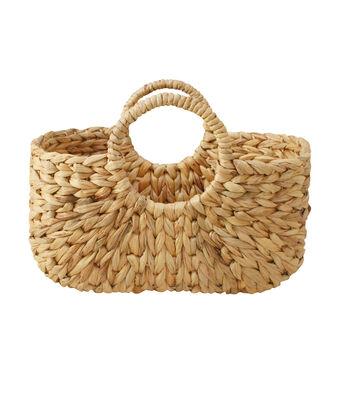 In the Garden Braid Woven Tote Basket