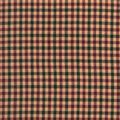 Homespun Cotton Fabric 44\u0022-Brown & Burgundy Cross Square
