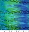 Snuggle Flannel Fabric 42\u0027\u0027-Blue & Green Watercolor
