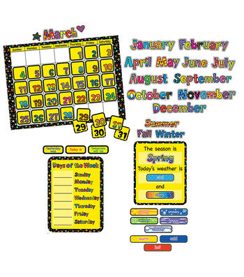 Poppin Patterns: Calendar Bulletin Board Set