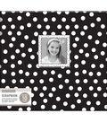 K&Company Patterned Window Album 12\u0022x12\u0022-Black & White Dots