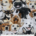 Anti-Pill Plush Fleece Fabric-Photo Real Dogs Packed