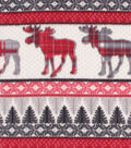 Super Fleece Fabric -Fair Isle & Moose