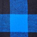 Shirting Cotton Fabric -Blue & Black Buffalo Check