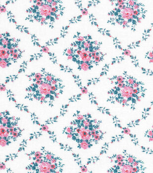 Keepsake Calico Cotton Fabric -White Diamond Ditsy Floral