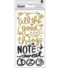 American Crafts Vicki Boutin All the Good Things Thickers Foam Stickers