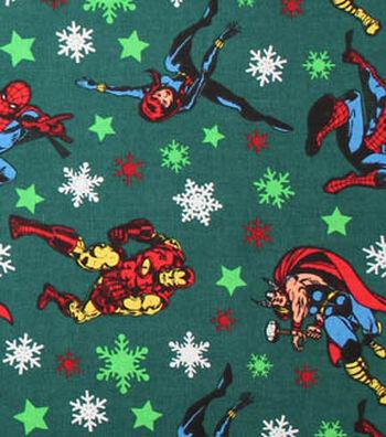 """Christmas Cotton Fabric 44""""-Marvel Christmas"""