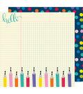 American Crafts Box of Crayons 25 pk 12\u0027\u0027x12\u0027\u0027 Cardstock-Writer\u0027s Block