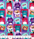 Anti-Pill Fleece Fabric 59\u0027\u0027-Kitty Patchwork