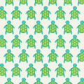 Super Snuggle Flannel Fabric-Baby Turtles In Line