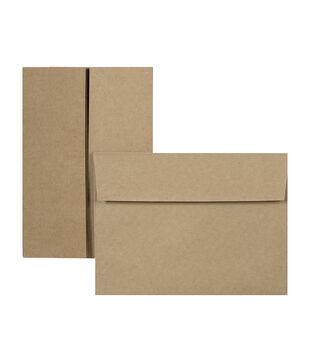 Park Lane 6 pk A7 Gabel Cards & Envelopes-Kraft