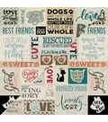 Companions Double-Sided Cardstock 12\u0022X12\u0022-#2 Dog/Cat Sentiments Collage