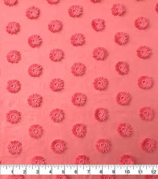 Specialty Cotton 3D Circle Embroidered Fabric-Blooming Dahlia