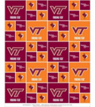 Virginia Tech Hokies Cotton Fabric -Block