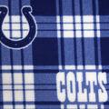 Indianapolis Colts Fleece Fabric -Plaid