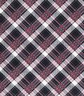 Vintage Cotton Fabric 43\u0027\u0027-Distressed Bias Plaid