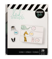 Heidi Swapp Lightbox 20 pk 3''x3'' Inserts-Talking Animals, , hi-res