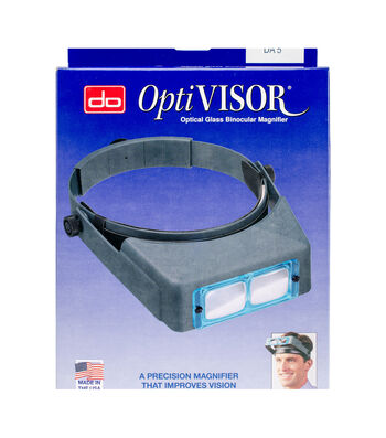 Donegan Optical OptiVISOR Binocular Magnifier-Lensplate #5 Magnifies 2.5