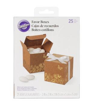 Sq Box Kraft Gold Foil 25ct