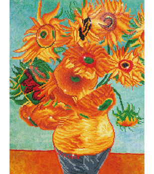 "Diamond Embroidery Facet Art Kit 25.2""X31.5""-Sunflowers (Van Gogh)"