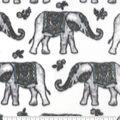 Anti-Pill Plush Fleece Fabric-Wildflower Elephants