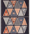 Patriotic Cotton Fabric -Pennant Panel
