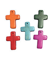 Blue Moon Beads Charm Set Stone Cross Multi, , hi-res