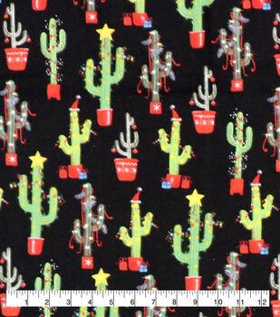 Super Snuggle Flannel Fabric-Christmas Cacti