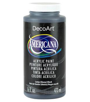 DecoArt Americana 16 fl. oz. Acrylic Paint-Lamp Black