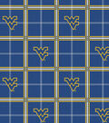 West Virginia University Mountaineers Flannel Fabric 42\u0022-Plaid