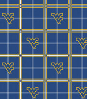 "West Virginia University Mountaineers Flannel Fabric 42""-Plaid, , hi-res"