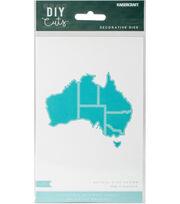 Kaisercraft DIY Cuts 3.25''x3'' Decorative Die-Map of Australia, , hi-res