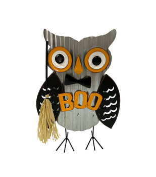Maker's Halloween Owl Porch Sitter with Boo