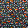 Super Snuggle Flannel Fabric-Monster Trucks and Stars