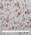 Sew Sweet Pleated Chiffon Fabric 57\u0022-Floral Print