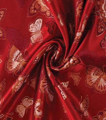 Yaya Han Cosplay Brocade Fabric 58''-Red Choo Butterfly