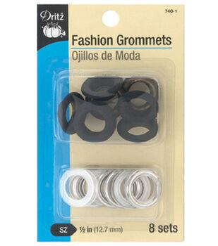 """Dritz 1/2"""" Fashion Grommets-Black"""