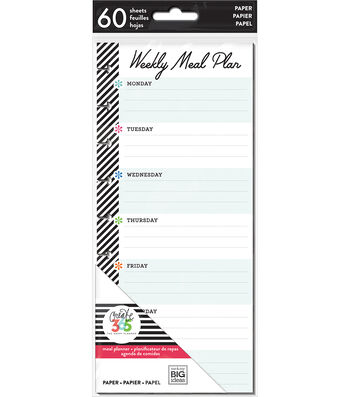 The Happy Planner Half Sheet Papers-Meal Planner